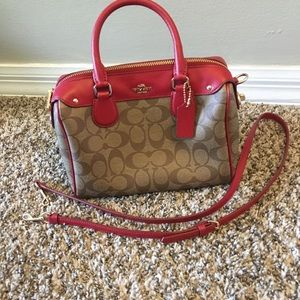 NWT coach mini Bennett satchel bag